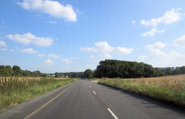 A4010 north of Flinthall Farm