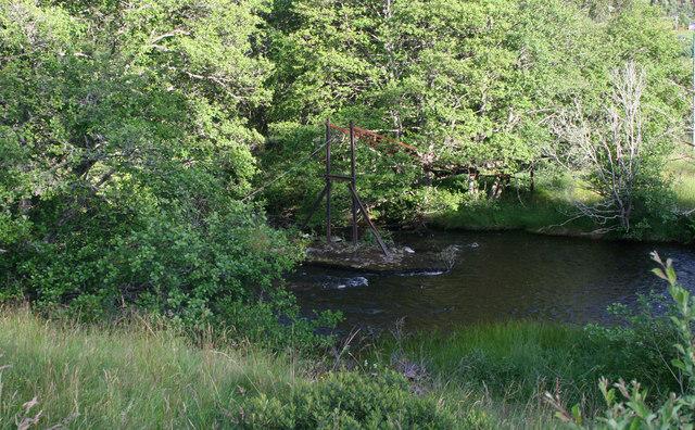 Footbridge remains, Errochty Water
