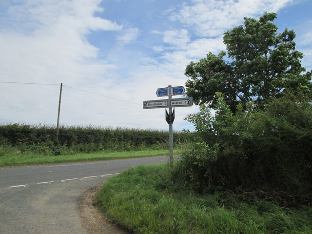 Signpost  at  Four  Lanes  End