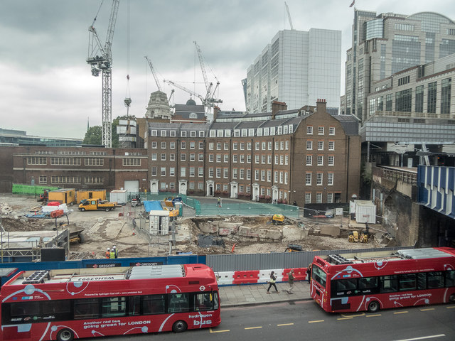 Hammett Street as seen from Tower Gateway Station, London E1