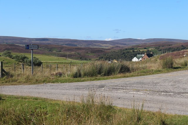 Road junction to Upper Morness