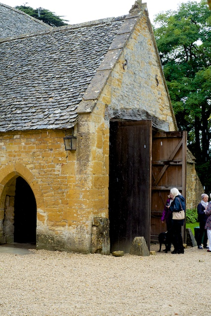 Stanway House Tithe Barn Entrance