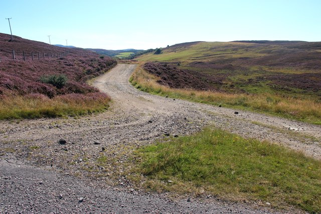 A rough road leads off towards Little Rogart