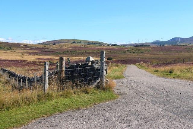 Minor road leading towards Garvoult and Knockarthur
