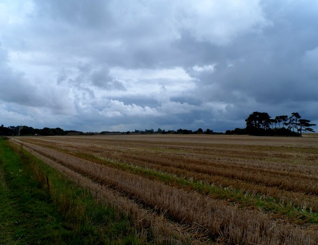 Clouds and stubble near Sudbourne