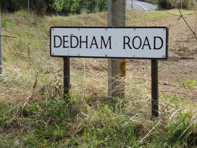 Dedham Road sign