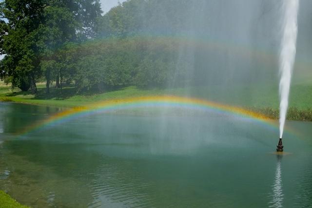 Stanway House Jet Fountain Rainbow