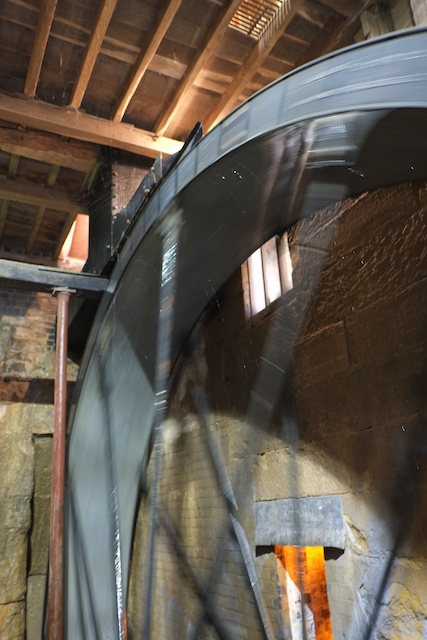Stanway House Mill Waterwheel in operation