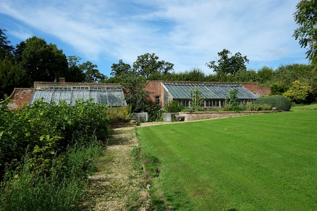 Stanway House Walled garden Greenhouses (In need of repair)