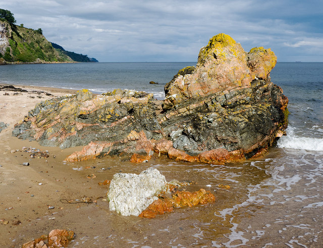 Distinctive rock near Scart Craig