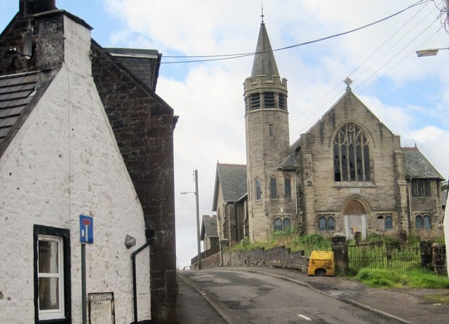 Derelict church in New Cumnock
