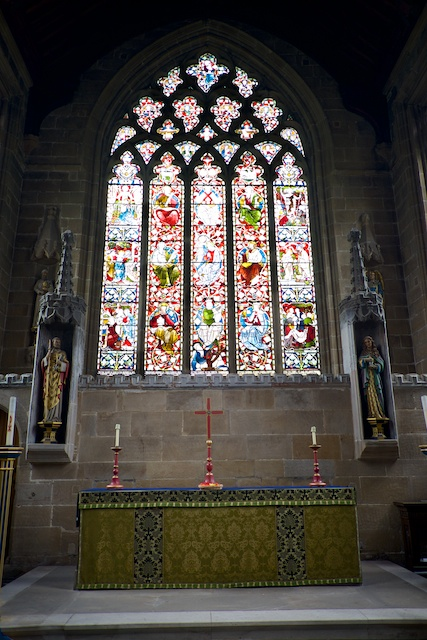 St. John the Baptist Tideswell Altar and West Window