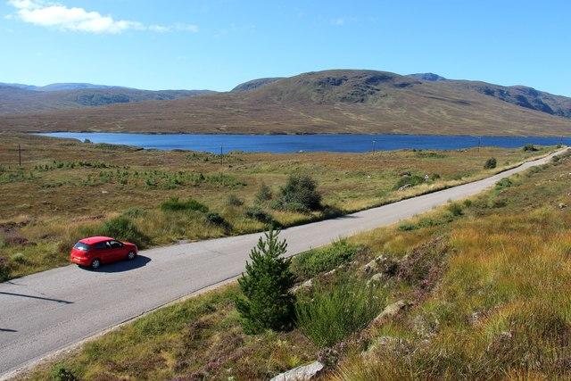 A838 approaching Loch a' Ghriama