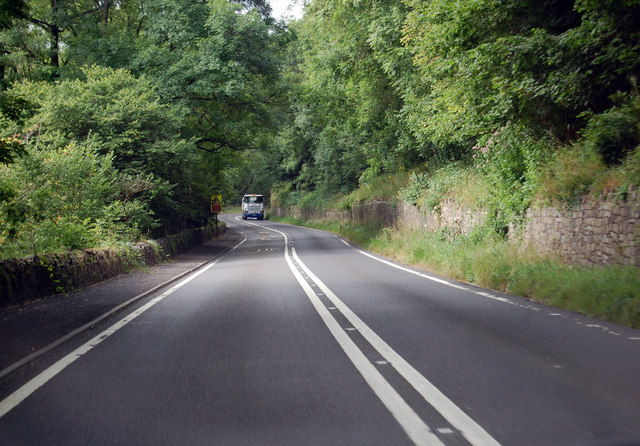 A39 descending Bristol Hill