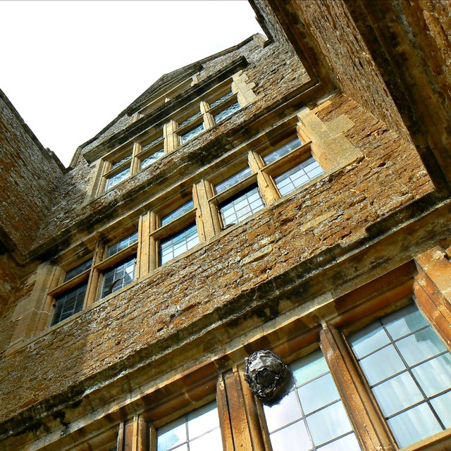 A view up the front of Chastleton House, Chastleton, Oxfordshire