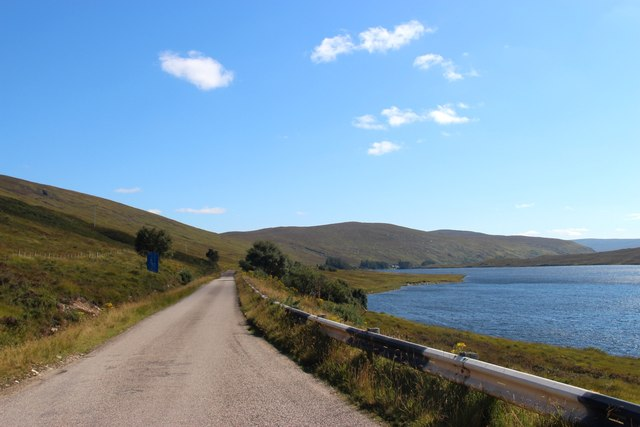 Loch Merkland and the A838