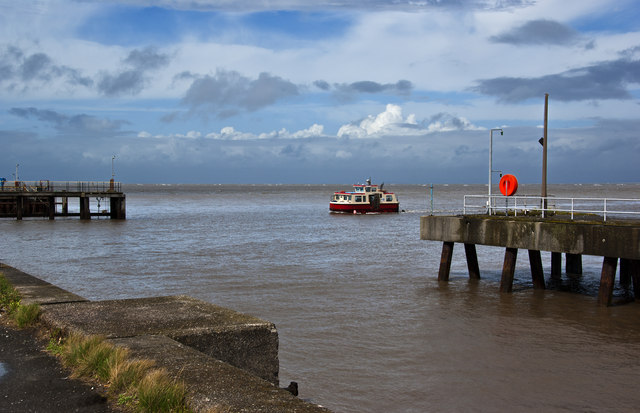 The ferry returning from Knott End-on-Sea