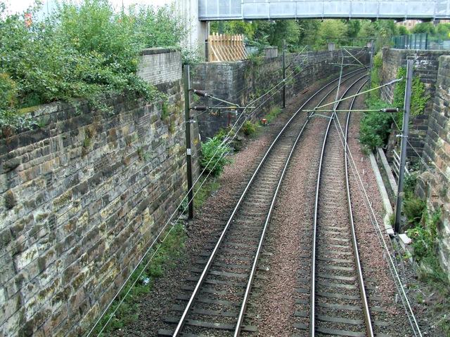 Railway line at St Vincent Crescent