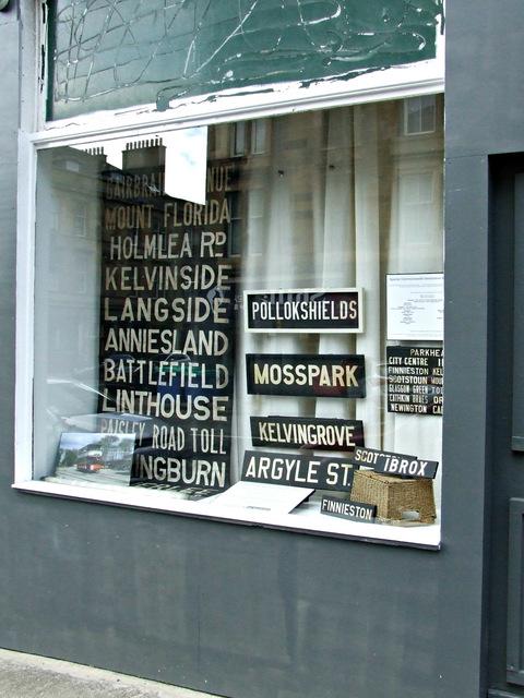 Old Glasgow tram signs