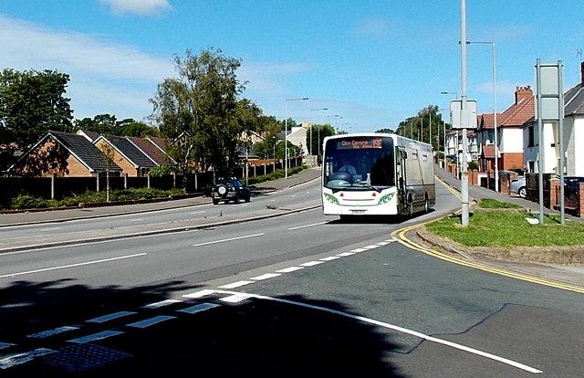 Sunday bus in Malpas, Newport