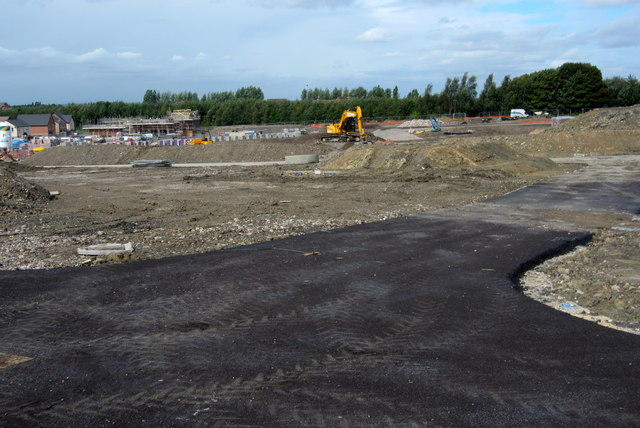 Construction work for new housing