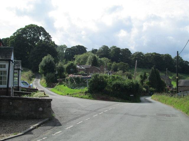 Road junction, Rushton Spencer