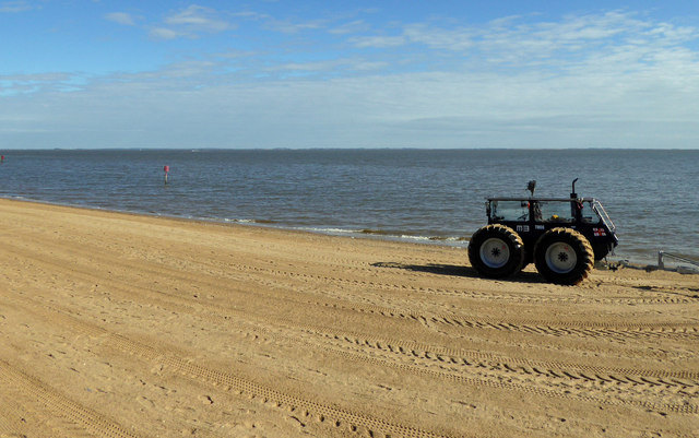 RNLI Cleethorpes tractor unit on the beach