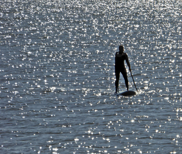 Cleethorpes paddle boarder