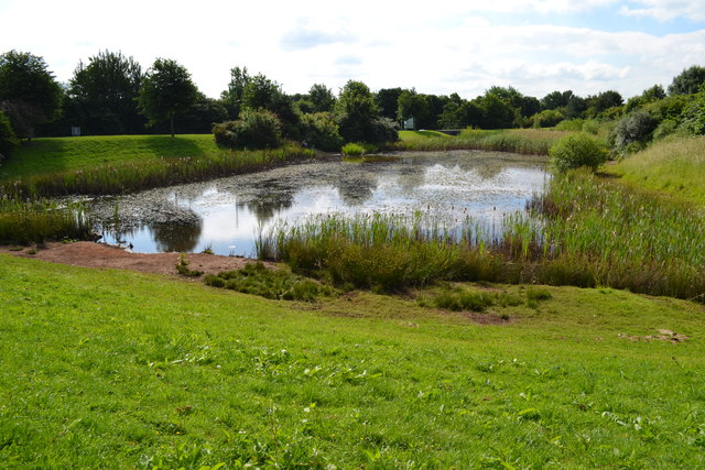 Balance pond for Nottingham Business Park