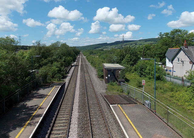 Towards Llanharan from Pontyclun by rail