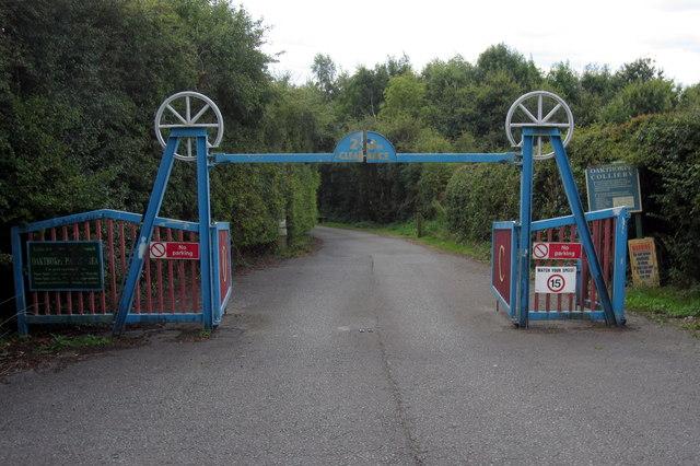 Entrance to car park on Oakshot Colliery site