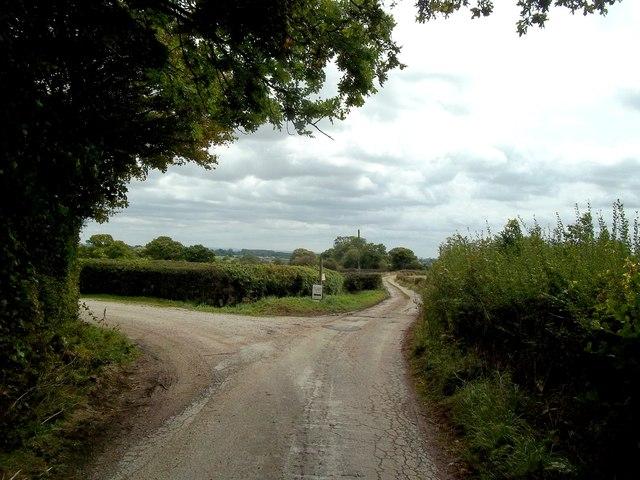 Track Junction near Top Stydd