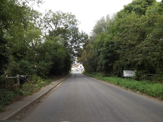 Entering Stratford St.Mary on Lower Street