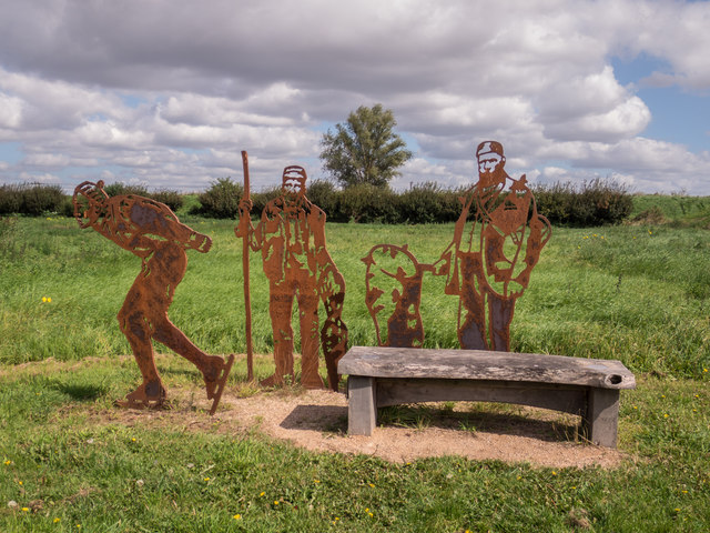 Sculpture near Reach Lode
