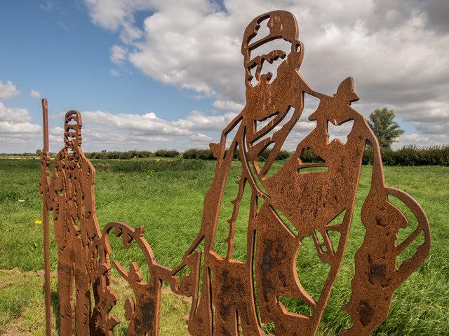 Sculpture near Reach Lode