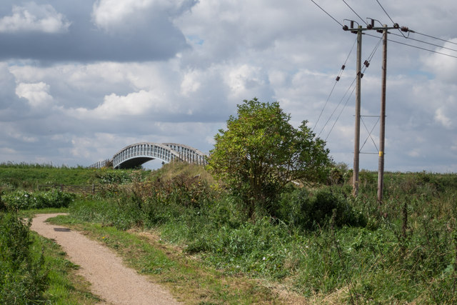 Approach to Cycle Bridge over Reach Lode