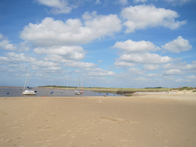 Boats Moored in the estuary of the River Alt
