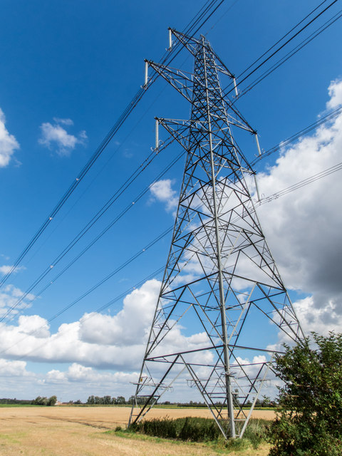 Pylon by Little Fen Drove