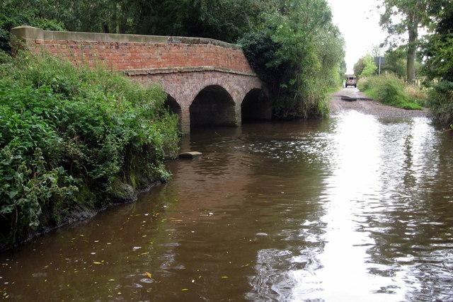 Deep ford at Lovett's bridge