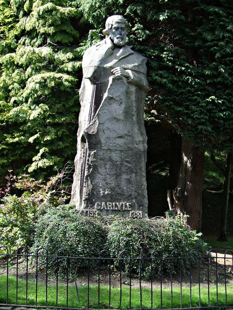 Thomas Carlyle statue in Kelvingrove Park