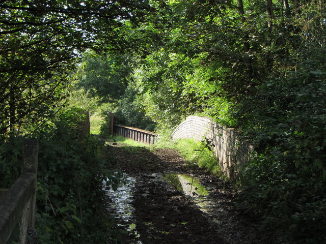 Farm track across two bridges