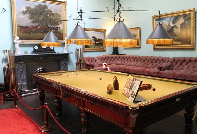 The billiard room at Brodsworth Hall