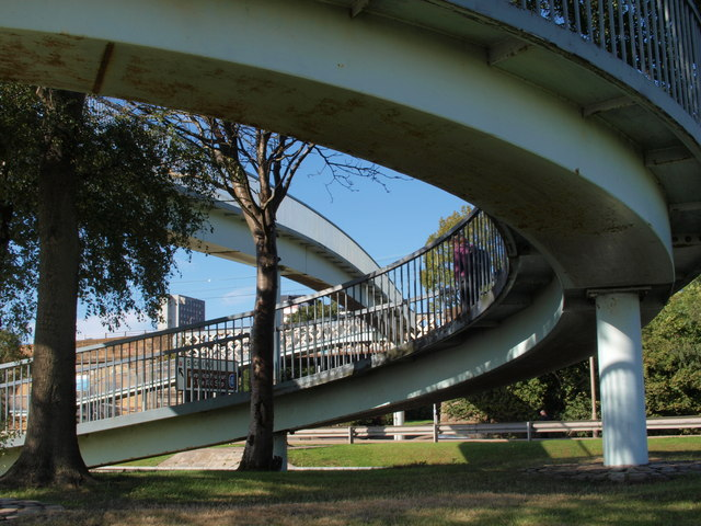 South end of footbridge