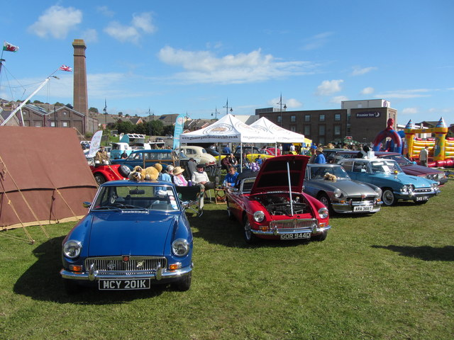 Classic cars on display at Barry
