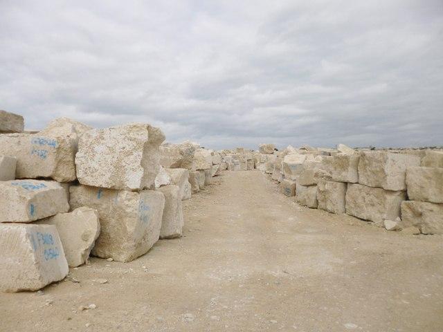 Easton, stone blocks