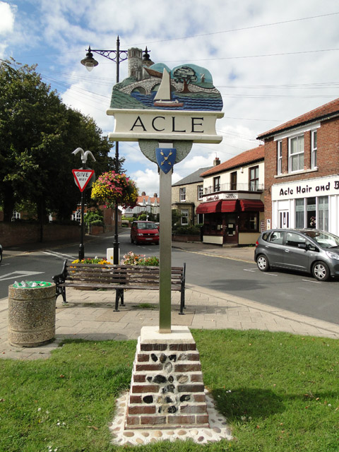 Acle village sign
