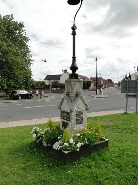 Milepost and memorial