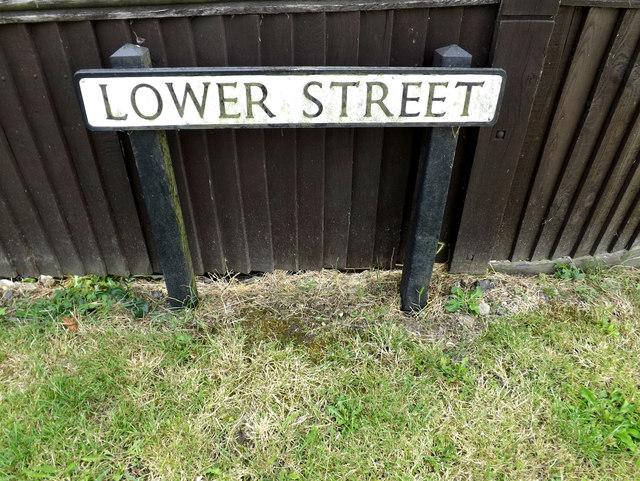 Lower Street sign