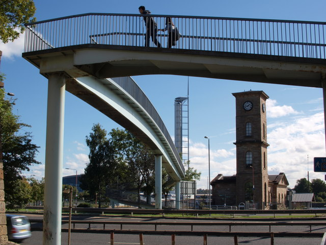 Footbridge over the Clydeside Expressway