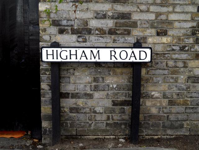 Higham Road sign